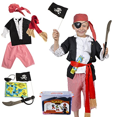 Pirate Costume Kids - Pirate Costume Accessories - Dress Up Clothes With Case by Tigerdoe