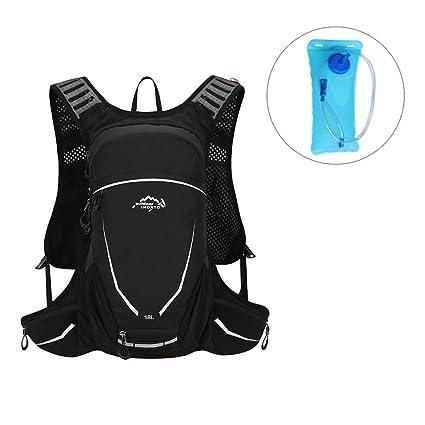 Green//Black Cycling Rucksack Bicycle Shoulder Backpack Water Bladder Water Bag