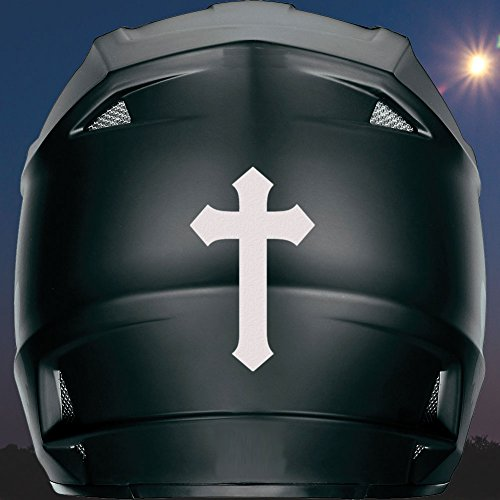 """Cross Reflective Helmet Decal - Choose Color - 4"""" (Reflective White)"""