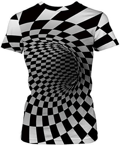 3862e5645 Moda A 3d Con Tees 005 T Para Dibujos Flychen Casual Vórtice Camiseta De  Novedad shirt Graphic Geométricos Mujeres Impreso Animales Cuadros Women s  XtwIaHaq