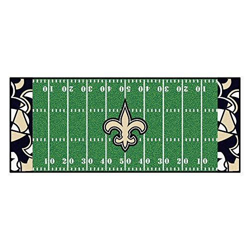 (FANMATS NFL New Orleans Saints NFL-New Saintsfootball Field Runner, Team Color, One Size)