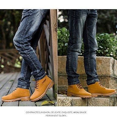 Love & zapatos de hombre y deber de trabajo/zapatos al aire libre/oficina y carrera/vestido/casual botas sintético negro/amarillo/gris topo negro