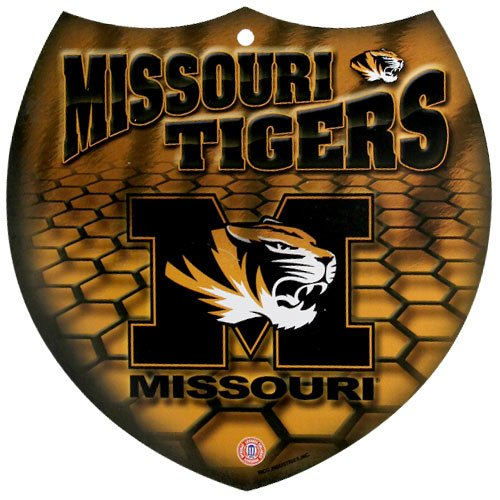 Missouri Tigers Business Card Holder - NCAA Missouri Tigers 8'' x 8'' Plastic Shield Sign