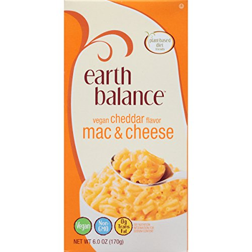 Earth Balance Mac and Cheese, Vegan Cheddar Flavor, 6 Ounce (Pack of 12)