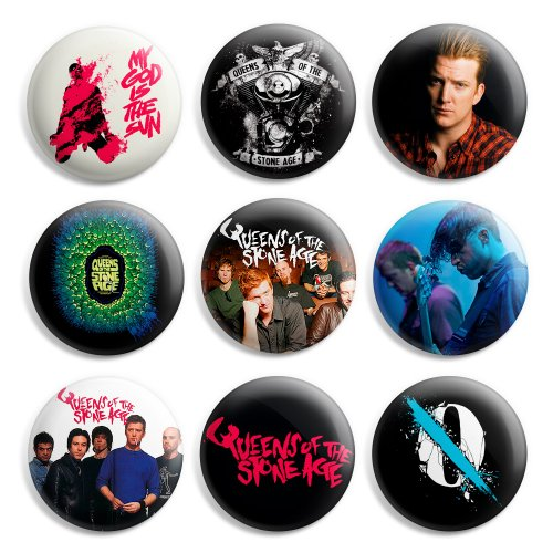 Queen Of The Stone Age Pinback Buttons Pin Badges 1 Inch (25mm) - Pack of 9