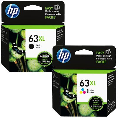 Genuine HP 63XL Black and HP 63XL Tri-color Combo Pack in Retail Packaging! USA Market only! Not EU or Grey Market Foreign Imports! F6U64AN#140 F6U63AN#140