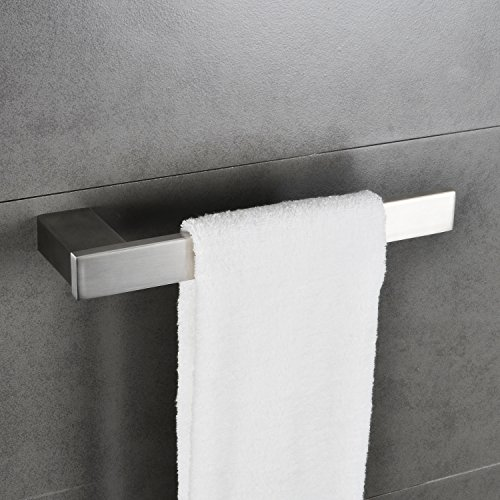 10-1/2 inch Towel Ring Open with Bar Rack Paper Towel Holder Bathroom Hardware Hand Towel Hanger Kitchen Shelf Organizer Stainless Steel Wall Mount Brushed Nickel MARMOLUX ACC by Marmolux Acc