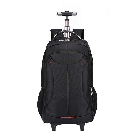 252f3a6d16 DYYTR Trolley Backpack Zaino con Ruote A Ruote Impermeabile Campus Scuola  Zaino Bagaglio Portatile Bagaglio Samsonite