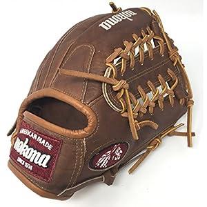 Nokona WB1150-M 11.5-Inch Modified Trap Web Walnut Leather Baseball Glove (Right-Handed Throw)