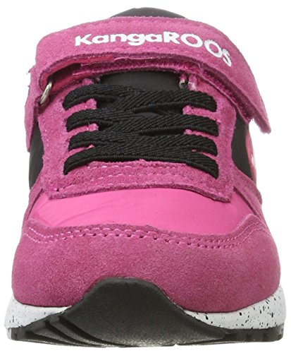 KangaROOS Chinu Ev, Zapatillas Unisex Niños Schwarz (Jet Black/Blossom Pink)