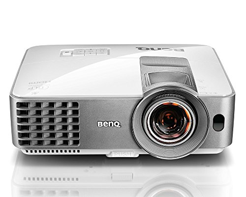 "BenQ WXGA DLP Short Throw Projector (MW632ST), 3200 Lumens, WXGA 1280×800, HDMI, 10W Speaker, Keystone, 87""@4.5ft, 1.2x Zoom"