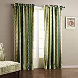 IYUEGO Wide Curtains 120Inch-301Inch for Large Windows Contemporary Oil Painting Style Classic Stripe Rod Pocket Top Lined Blackout Curtains Draperies With Multi Size Custom 300″ W x 96″ L(One Panel)