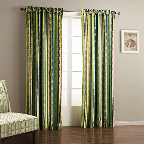 IYUEGO Wide Curtains 120Inch-301Inch for Large Windows Contemporary Oil Painting Style Classic Stripe Rod Pocket Top Lined Blackout Curtains Draperies With Multi Size Custom 300″ W x 102″ L Review
