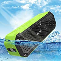RAYKEY Waterproof Bluetooth Speaker,Wireless Portable Audio Hands-Free Speakerphone with Bass Flashlight, Outdoor Speakers