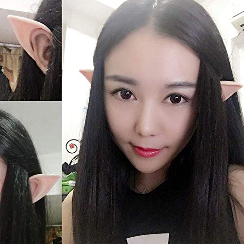 wodceeke Soft Elf Ears, Comfortable Reusable Pointed Prosthetic Tips Ear Decoration for Cosplay & Christmas Party (1 Pairs) by wodceeke (Image #5)