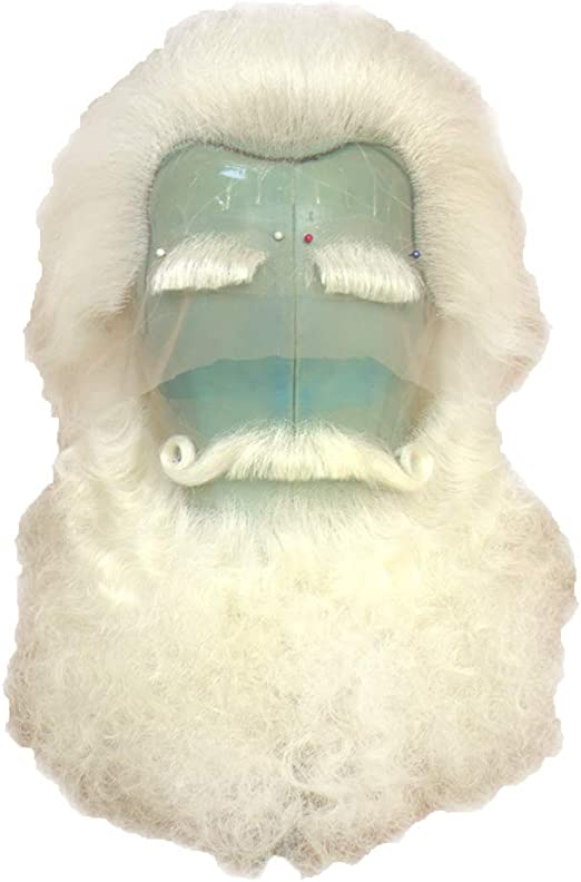 Santa Beard or Curly Doll Hair  .5 oz White