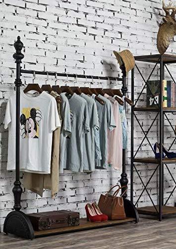 Hui Tong WGX Industrial Pipe Clothing Rack Garment Rack Pipeline Vintage Rolling Rack with Wheels