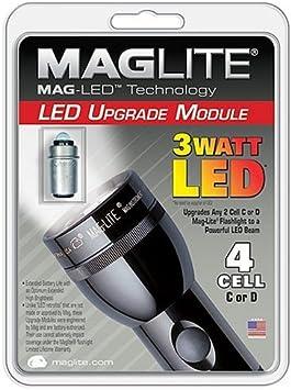 Mag Lite Sh34dcw6j 3 Watt Led 4 C D Cell Flashlight Upgrade Module Basic Handheld Flashlights Amazon Com