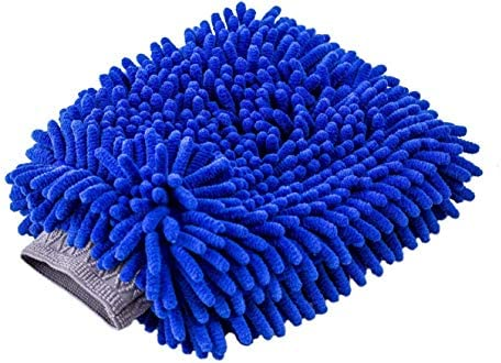 Yunzee Car Wash Mitt Long Coral Velvet Chenille Microfiber Sponge Free Scratch Glove Tool