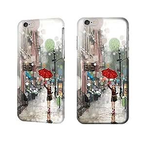 """Apple Iphone 6 Plus 5.5"""" Case - Girl in the Rain Full Wrap Iphone 6 Plus Case"""