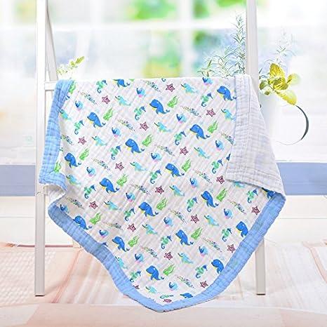 Claee toallas infantiles están cubiertos con 6 capas de gasa de algodón puro, Toalla de