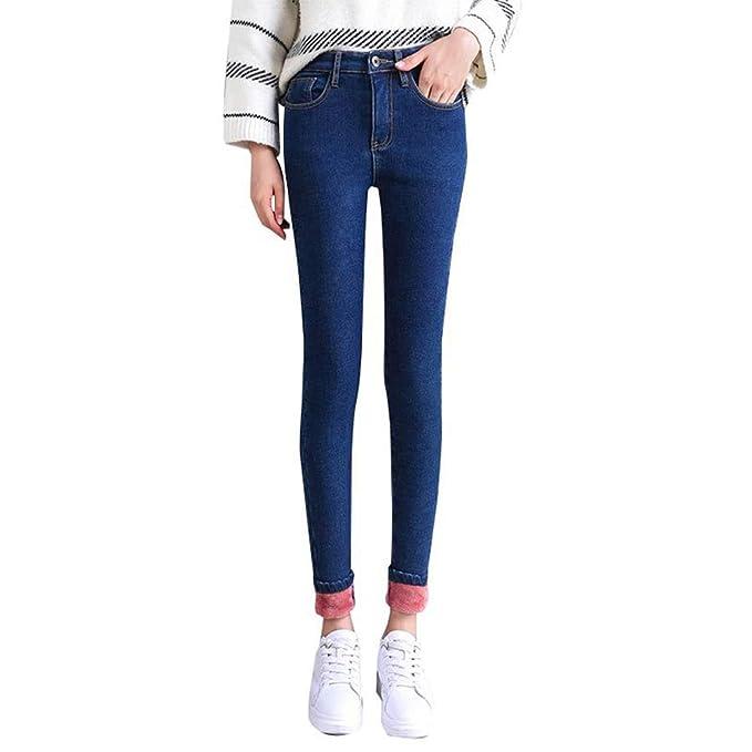 XFentech Vaqueros de Jeans para Mujeres - Moda Pantalón de ...