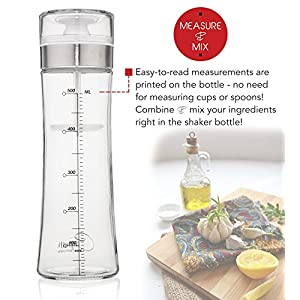 Cayman Kitchen Premium Glass Salad Dressing Shaker