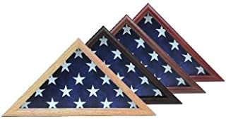 product image for Capitol Hill Flag Case- 4 x 6 Flag Display Case, Walnut Finish