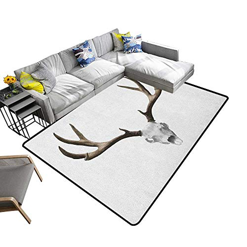 Antlers Non-Slip Floor mat A Deer Skull Skeleton Head Bone Halloween Weathered Hunter Collection 78