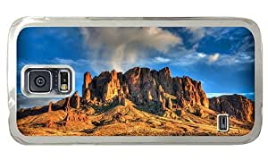 Hipster Samsung Galaxy S5 Case customizable desert mountain PC Transparent for Samsung S5