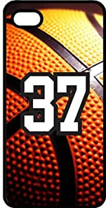 Basketball Sports Fan Player Number 37 Smoke Rubber Decorative iPhone 4/4s Case
