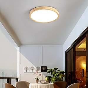 Nordic Solid Wood led Plafones Dormitorio Principal Moderno Simple Ultra Thin Ronda Luces para niños Living
