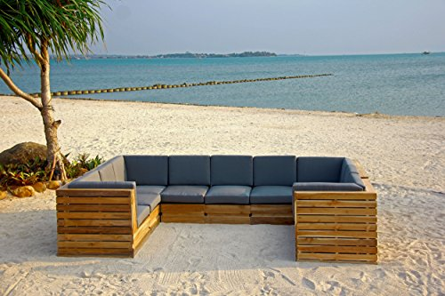 Willow creek designs 11 piece pacific teak outdoor for Willow creek designs