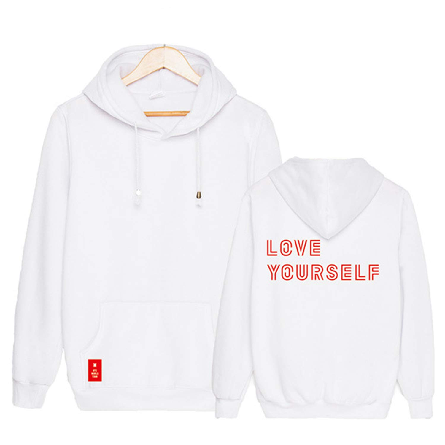 Qaedtls Kpop BTS World Tour Love Yourself Sweater Jungkook Suga Jimin V Hoodie Jacket