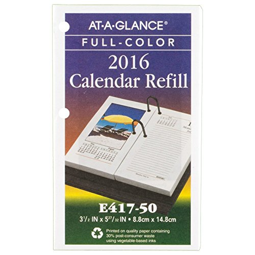 AT-A-GLANCE Daily Desk Calendar 2016 Refill, Photographic, 12 Months, 3.5 x 6 Inch Page Size (E41750) by At-A-Glance