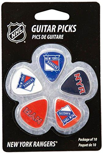 (Woodrow Guitar by The Sports Vault NHL New York Rangers Guitar Picks, 10 Pack)