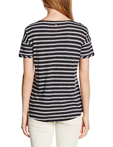 s.Oliver, Camiseta para Mujer Blau (eclipse blue stripes 59G4)