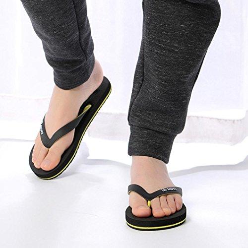 Sikye Summer Flip Flops,Men Lightweight EVA Anti-Skidding Sandals Slipper Flip-Flops Shoes Black