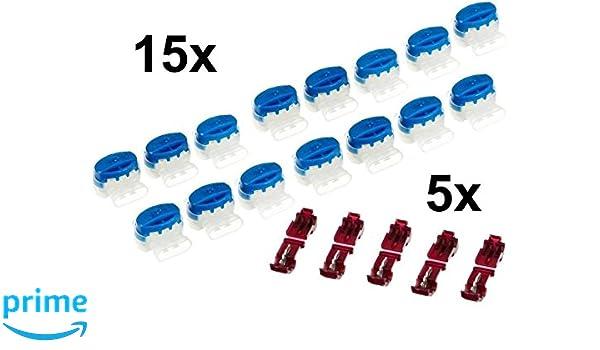 genisys 15 Cable conector + 5 bornes para Gardena r160li R165 R180 | Caja resellable | Original 3 m Scotch Lok: Amazon.es: Jardín