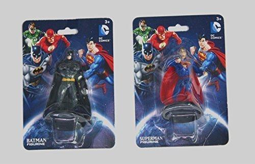 (Sequoia Purchase DC Comics 2 Superhero Bundle Collectible Figurines - Superman AND Batman Figures)