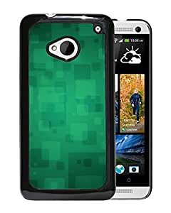 Unique Designed Cover Case For HTC ONE M7 With Quare Green A Art Pattern Wallpaper Phone Case