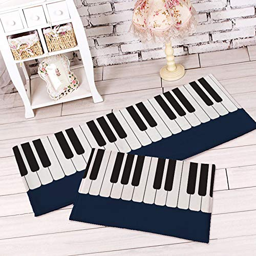 Piano Carpet Bedroom Bedside Living Room Black And White Piano Kids Pad Rug
