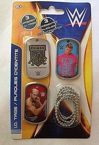 WWE Wrestler Dolph Ziggler Cesaro ID Dog Tags - Set D - 3 Count