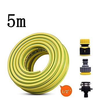 Pei Tubo De Aire Comprimido 5M Amarillo + Acoplamiento De Conexión Rápida: Amazon.es: Hogar