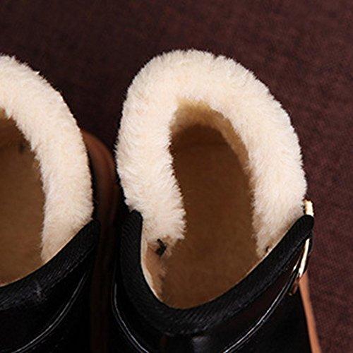 Upxiang Unisex Baby Schnee Stiefel, Mode Warm Verdickung Stiefel, Herbst Winter Kinder Schuhe, Jungen Mädchen Schnee Stiefel Schwarz