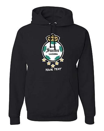 Amazon.com: Santos Laguna Mexico Hooded Hoodie Hoody Sudadera with Free Custom Text(Optional): Clothing