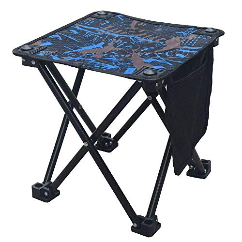 MEHO Folding Camping Stool Small Portable Camp Chair for Fishing Hiking Gardening Beach with Carry Bag ()