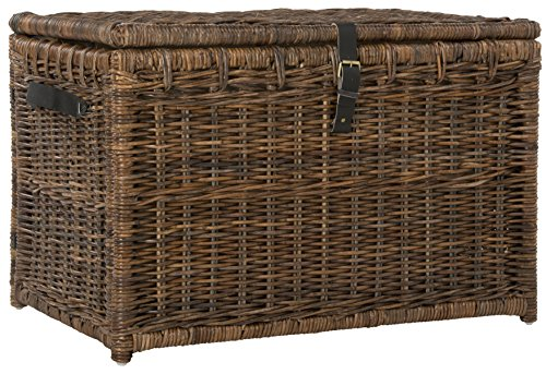 "happimess Michael 35"" Wicker Storage Trunk, Brown"