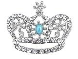 Alilang Vintage Inspired England Royal Prince Queen Crown Crystal Rhinestone Pin Brooch