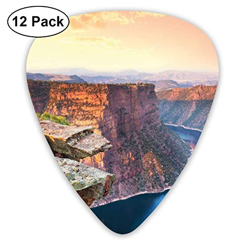 (Guitar Picks 12-Pack,Aerial Vista Photo Of Flaming Gorge National Recreation Area Panorama At Sunset)